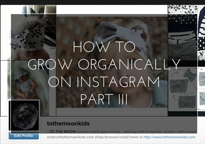 How to Grow Organically on Instagram:  The Hashtag